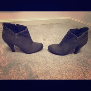 Predictions Grey Suede Ankle Bootie
